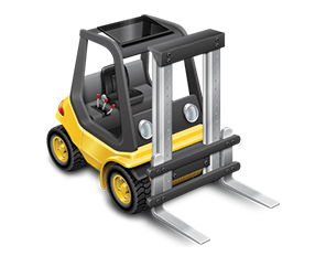 Fork lift Truck Drawing