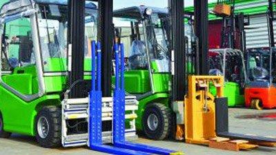 Green-fork-lift-trucks