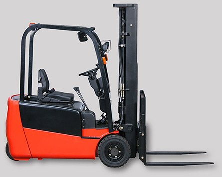 red forklift truck battery